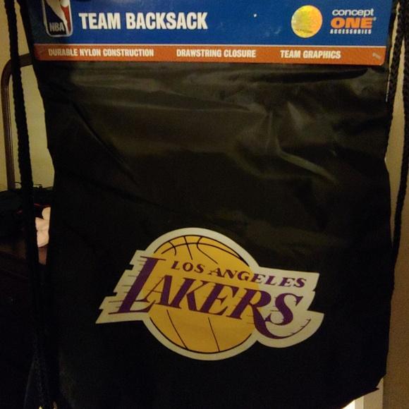 10d6433caf NBA Lakers Drawstring Bag.
